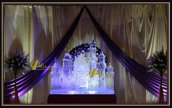 广州婚礼冰雕(爱情城堡注酒冰雕)